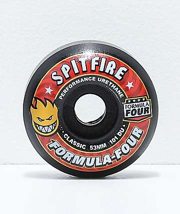 Spitfire Formula Four Classic 53mm 101a Black Skateboard Wheels