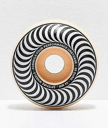 Spitfire Formula Four Classic Black & White 54mm 99a Skateboard Wheels