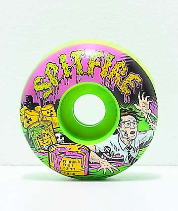 Spitfire Formula Four Classic Toxic Apocalypse 52mm 99a Skateboard Wheels