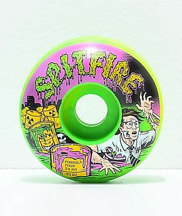 Spitfire Formula Four Classic Toxic Apocalypse 54mm 99a Skateboard Wheels