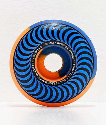 Spitfire Formula Four Classics Swirl 56mm 99a Blue & Orange Skateboard Wheels