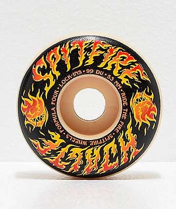 Spitfire Formula Four Hijalte Cinder Lock-Ins 53mm 99a Skateboard Wheels