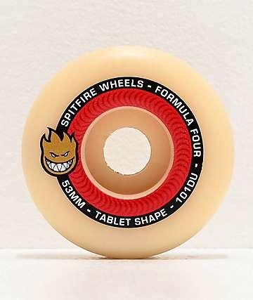 Spitfire Formula Four Tablet 53mm 101a Red & Natural Skateboard Wheels