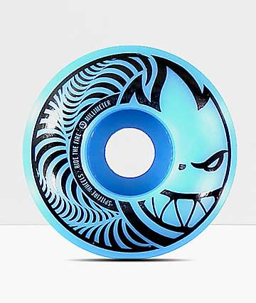 Spitfire Hypno-Swirl Blue & Black 53mm Skateboard Wheels
