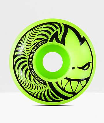Spitfire Hypno-Swirl Green & Black 53mm Skateboard Wheels