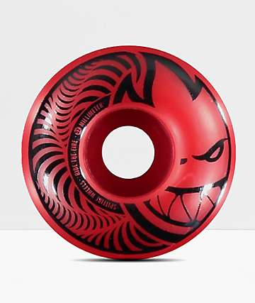 Spitfire Hypno-Swirl Red & Black 52mm Skateboard Wheels