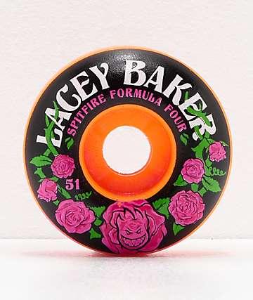 Spitfire Lacey Baker Perennial Formula Four Pink & Orange 51mm 99a Skateboard Wheels