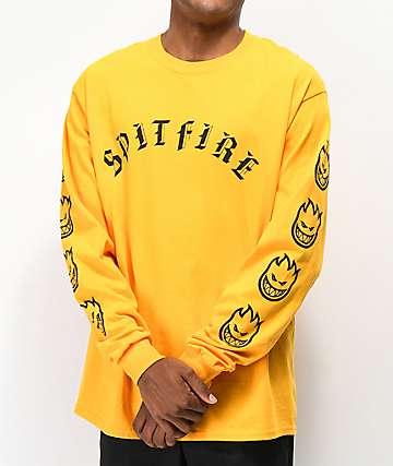Spitfire Old E Gold Long Sleeve T-Shirt
