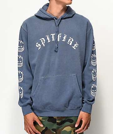 Spitfire Old English Slate Blue Hoodie