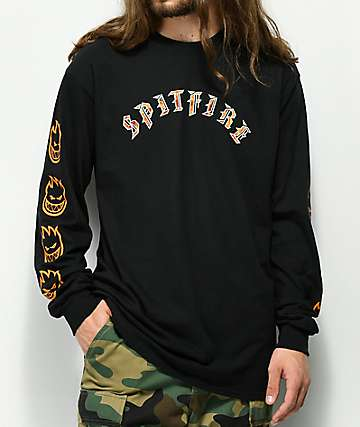 Spitfire Old Flame Black Long Sleeve T-Shirt
