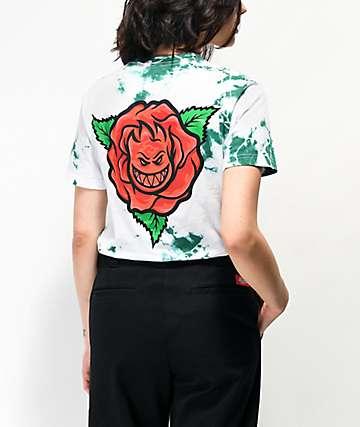 Spitfire Perennial Green & White Tie Dye T-Shirt