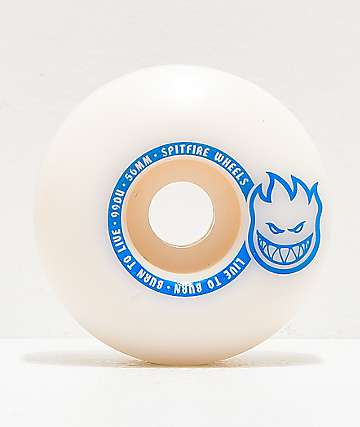 Spitfire Scorchers 56mm 99a White & Blue Skateboard Wheels