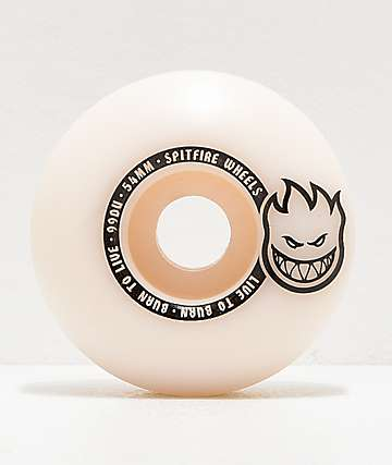 Spitfire Scorchers White & Black 54mm 99a Skateboard Wheels