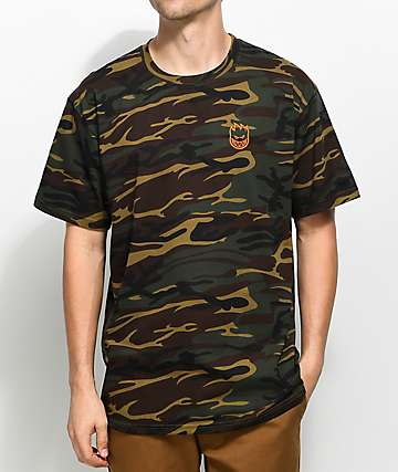 Spitfire Stock Bighead Embroidered Camo T-Shirt