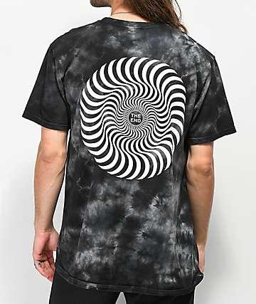 Spitfire Swirl Black Washed T-Shirt