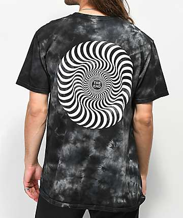 Spitfire Swirl Black Washed T-Shirt