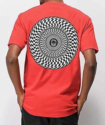Spitfire Swirl Check Red T-Shirt
