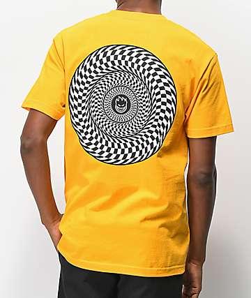 Spitfire Swirl Check Yellow T-Shirt