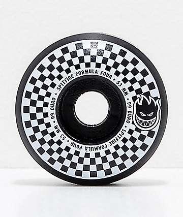 Spitfire x Vans Formula Four Classic 53mm 99a ruedas de skate a cuadros en  negro y 3b5a8f8d10c