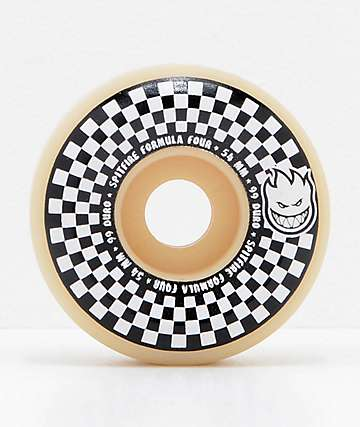 Spitfire x Vans Formula Four Conical 54mm 99a White & Black Checkerboard Skateboard Wheels