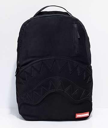 Sprayground Black Ghost Nubuck Shark Backpack