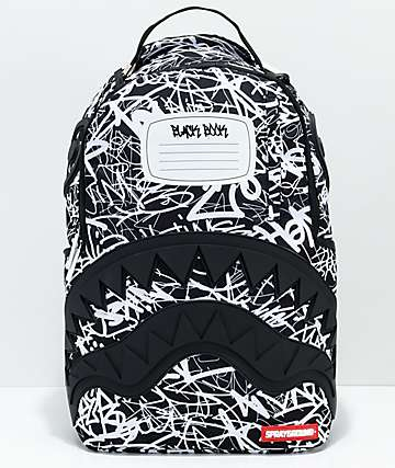 Sprayground Composition Shark Black & White Backpack