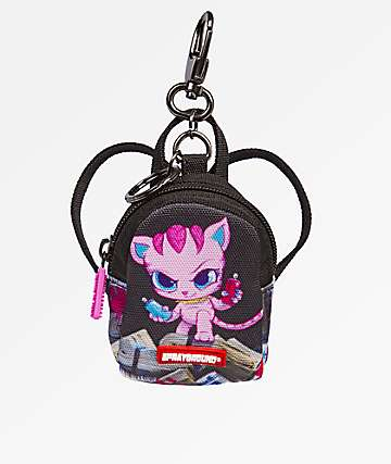 Sprayground Corn Row Kitty mochila llavero
