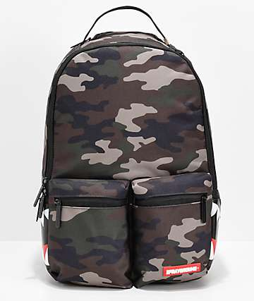 Sprayground Double Cargo Side Shark mochila de camuflaje