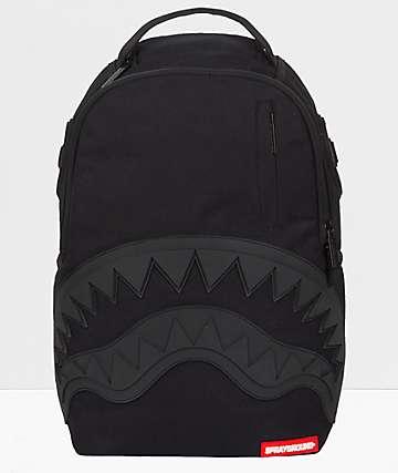 Sprayground Ghost Rubber Shark Black Backpack
