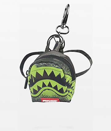 Sprayground Glow In the Dark Camo Shark Keychain