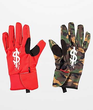 Sprayground Money Drips Snowboard Gloves