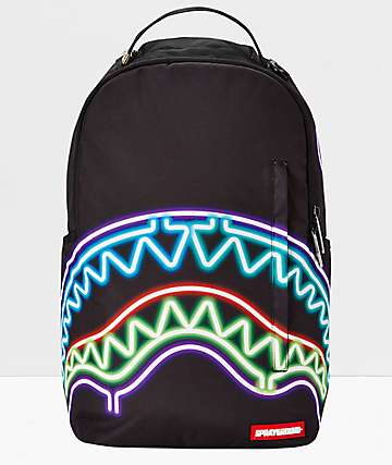 Sprayground Neon Shark Black Backpack