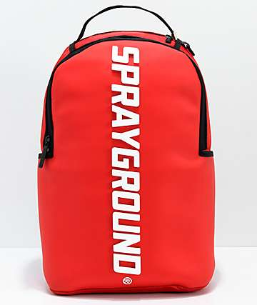 Sprayground Oversized Logo Red Backpack