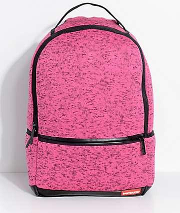Sprayground Pink Knit Backpack