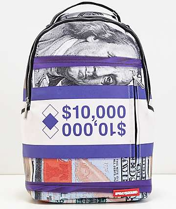 Sprayground Purple Money Stack mochila