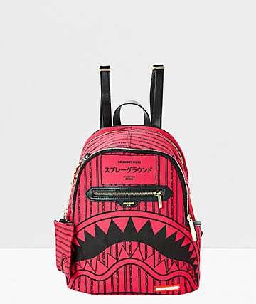 Sprayground Reverse Sharks In Paris Pink Mini Backpack