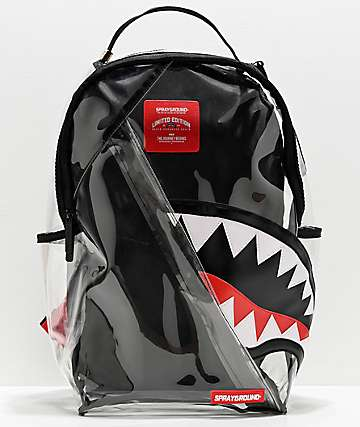 Sprayground Shark Angle 20-20 Vision Clear Backpack