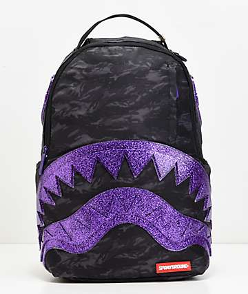 Sprayground Shark Mouth mochila con purpurina