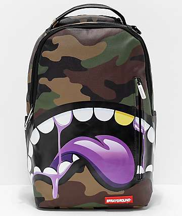 7e129aac773b38 Sprayground Shark Tongue Remix Purple Backpack