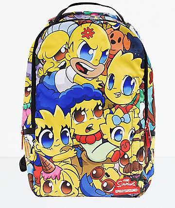 Sprayground Simpsons Anime Pileup Backpack