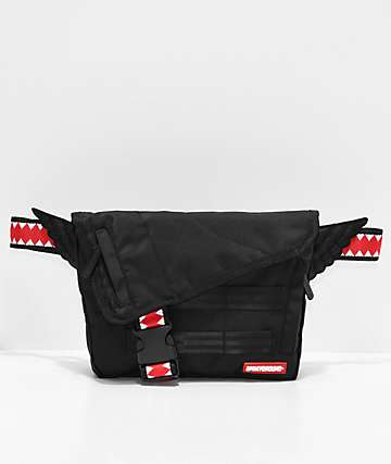 Sprayground Wings Black Cross Body Bag