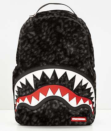 Sprayground mochila de pelo sintético y boca de tiburón