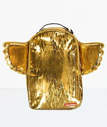 Sprayground mochila dorada con alas