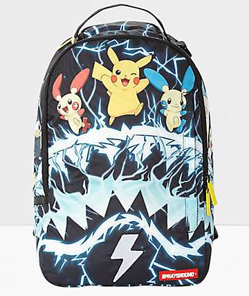 Sprayground x Pokemon Pikachu Electric Shark Backpack