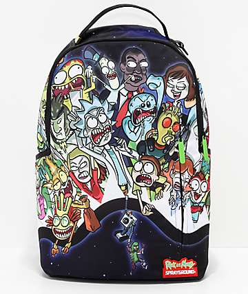 Sprayground x Rick & Morty Shark Portal Backpack