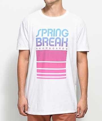 Spring Break Retro Classic camiseta blanca