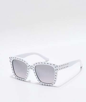 Sprinkle White Sunglasses