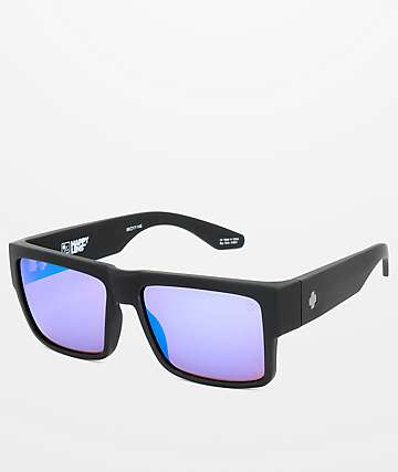 f8a1dfe8a89aa Spy Cyrus Matte Black Happy Bronze   Blue Spectra Sunglasses