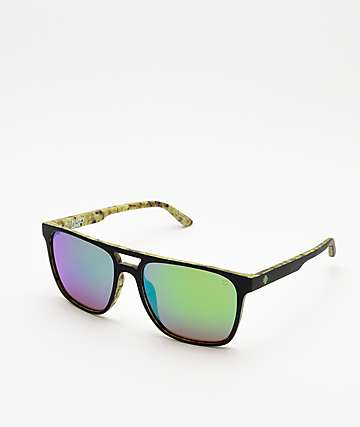 Spy Czar Kush Wall & Black Happy Lens Sunglasses