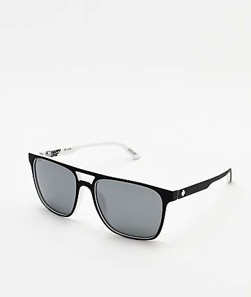 28fd40b21fe81 Spy Czar White Wall   Silver Happy Lens Sunglasses